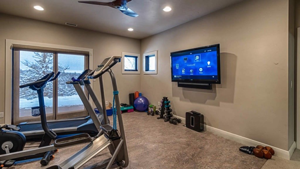 home gym audio and video