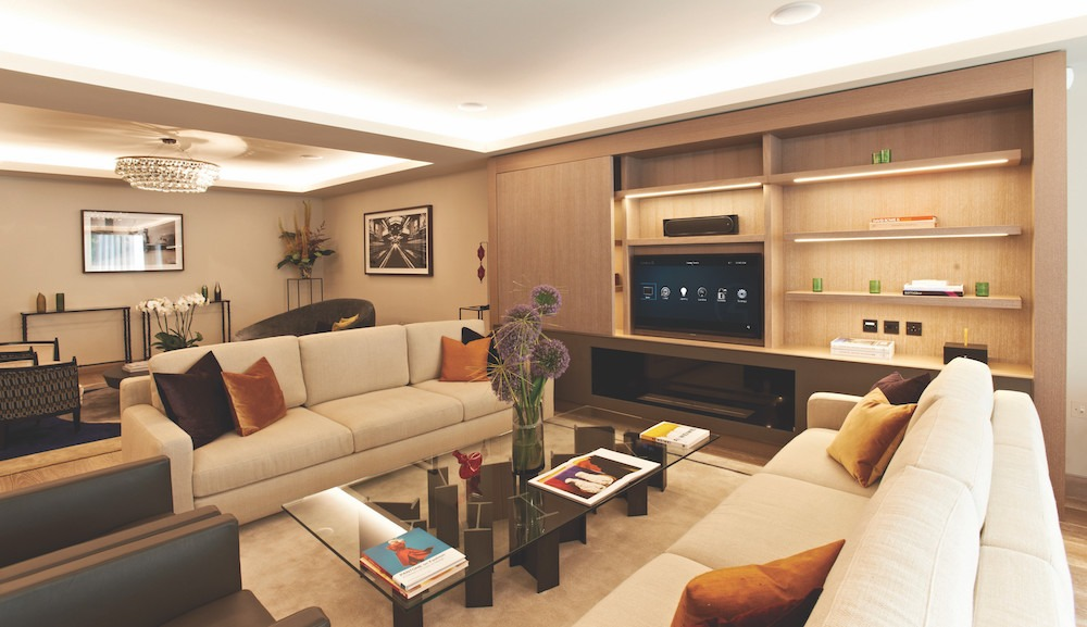 smart lighting living room