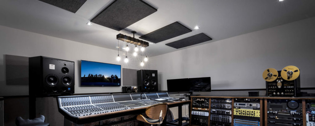 A/V system, acoustic panels, home automation